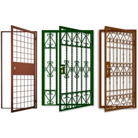 Кованые решетки двери Виконт 1000х2100 мм под замок