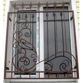 Ковані решітки на вікна Віконт 2100х1400