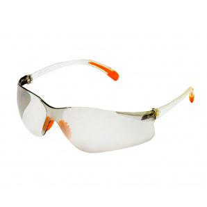 Очки защитные оранжевые дужки (53-014)