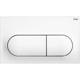 Панель смыва Prevista для бачков альп белый Viega 773762
