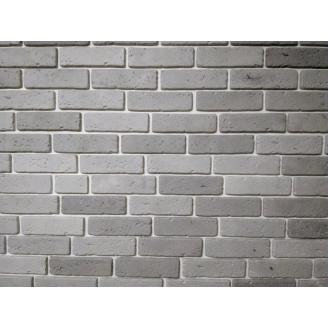 Гипсовый кирпич Травертин серый 01 6x20 см