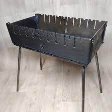 Кований мангал - чемодан 25мм на 8 шампурів