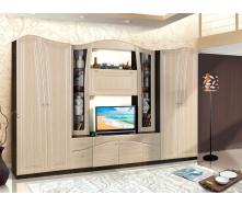 Вітальня Модерн Ніколь 320х50х208 см Вудлайн білий