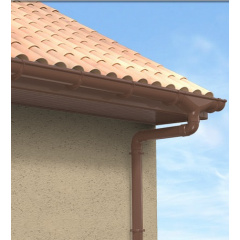 Водостічна система Nicoll 25 коричнева на гумовій прокладці