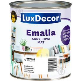 Эмаль акриловая LuxDecor Латте светлый коричневый мат 0,75 л