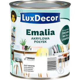 Эмаль акриловая LuxDecor Горячий шоколад темно коричневый глянец 0,75 л
