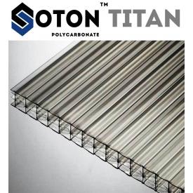 Сотовый поликарбонат ТМ SOTON TITAN 16х2100х6000 мм прозрачный