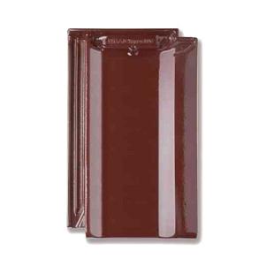 Черепица Braas Топаз 11V Топ глазурь 445х265 мм бриллиантово вишневый