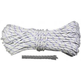 Шнур полипропиленовый плетеный D 6 мм 50 м (Украина) ВИСТ