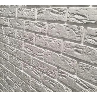 Гипсовая плитка Парижский кирпич (Милтон) 205*65мм белый