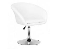 Мягкое кресло Мурат белое хром