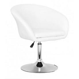 М`яке крісло Мурат біле хром
