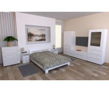 Спальня Компанит Стиль белая модульная 7 элементов лдсп