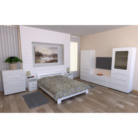 Спальня Компанит Стиль біла модульна 7 елементів лдсп