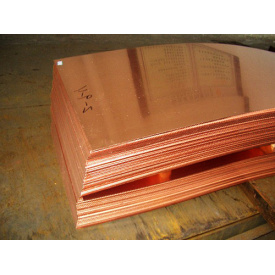 Лист медный 10х600х1500 мм М1