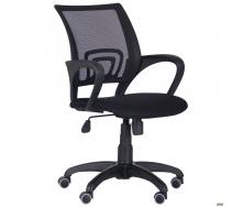 Офісне крісло АМФ Веб 930-1030х550х620 мм чорне сітка-спинка пластик