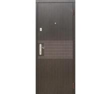 Двері вхідні Лайн венге-ясен білий структурний МДФ 10 мм