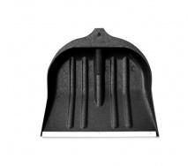 Лопата для снігу чорна пластикова (440х460)