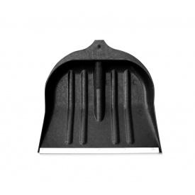 Лопата для снега черная пластиковая (440х460)