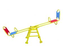 Металеві дитячі гойдалки-балансир Dali 703/4 2200х640 мм зі спинкою