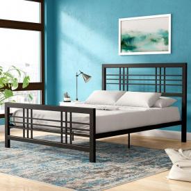 Ліжко GoodsMetall металеве в стилі LOFT 2000х1600х1200 К101