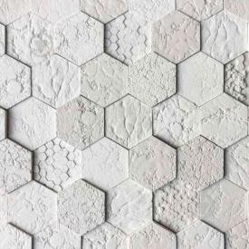 Гіпсова плитка Стільники 02 білий