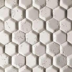 Гіпсова плитка Стільники -1 білий