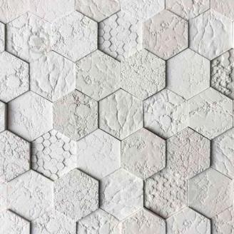 Гипсовая плитка Соты 02 белый