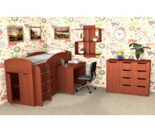 Детская спальная мебель Компанит №4 дсп яблоня для школьника