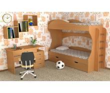 Дитяча двомісна спальна меблі Компанит №5 дсп для дошкільнят та підлітків