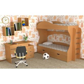 Детская двухместная спальная мебель Компанит №5 дсп для дошкольников и подростков