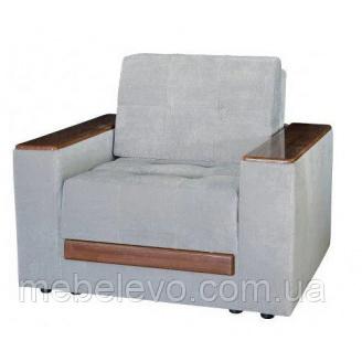 Кресло Орфей Кордрой серый/ кордрой коричневый Мебель-Сервис