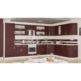 Кухня Гамма матова 2,0 м. Зі стільницею білий / винний Меблі-Сервіс