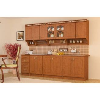 Кухня Корона 2,6 м со столешницей ольха Мебель-Сервис