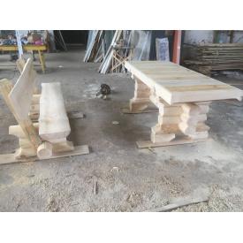 Комплект стіл і дві лавки зі спинками 2,5 м