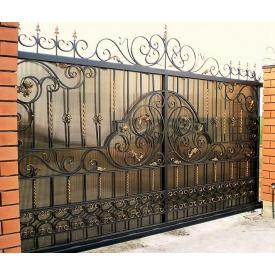 Ворота кованые закрытые Б0012пл Legran