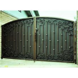 Ворота кованые черные Б0031зк Legran