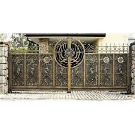 Ворота кованые закрытые Б0050зк симметричные Legran