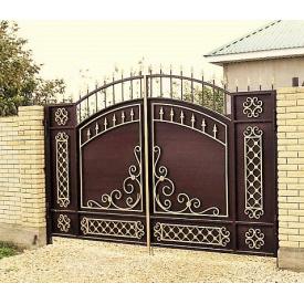 Ворота кованые с профнастилом Б0032пф Legran