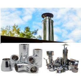 Система дымоходов из нержавеющей стали / неутепленный ( комплект )