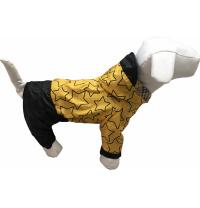 Дождевик для собак Dogs Bomba для маленьких собак 2 р Звезды Штаны черные (M-30/2)