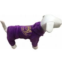 Костюм для собак Dogs Bomba для маленьких собак 2 р Велюр Juicy Сиреневый (D-48/2)