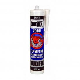 Герметик BUDFIX универальный силиконовый 200U прозрачный 280 мл