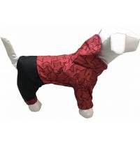 Дождевик для собак Dogs Bomba для маленьких собак 2 Звезды красные (M-38/2)