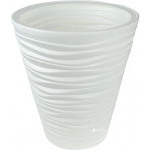 Вазон Prosperplast Sand 2 в 1 круглый 35 см Белый (79617-449)