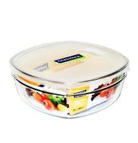 Скляний контейнер-салатник Glasslock з кришкою квадратний 850 мл