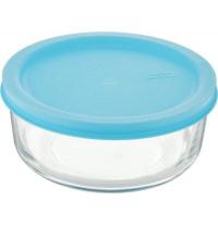 Скляний контейнер-салатник Glasslock з кришкою прямокутний 840 мл