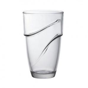 Набір стаканів Duralex Wave з прозорого скла 8 см 360 мл (4 шт)