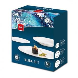 Набор тарелок Cok Elba Cegeco из опалового стекла (18 шт)