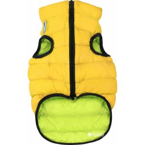 Двусторонняя курточка для собак Airy Vest для маленьких собак XS 30 Желто-салатовая (1591)